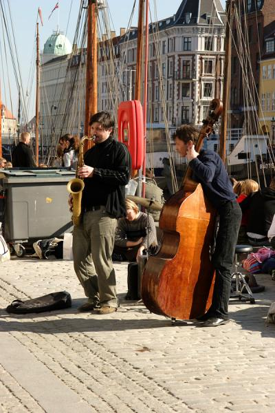 Jazz on the pier. Copenhagen, Denmark