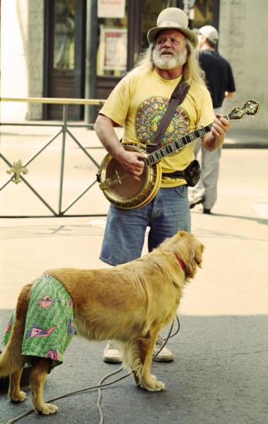 Me, my music and my dog. New Orleans, Louisiana