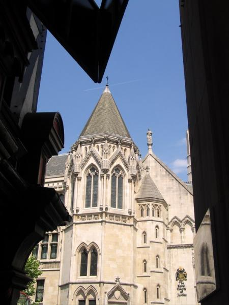 The Royal Courts of Justice. London, UK